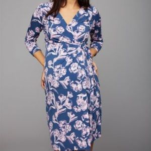 A Pea In The Pod Floral Wrap Dress